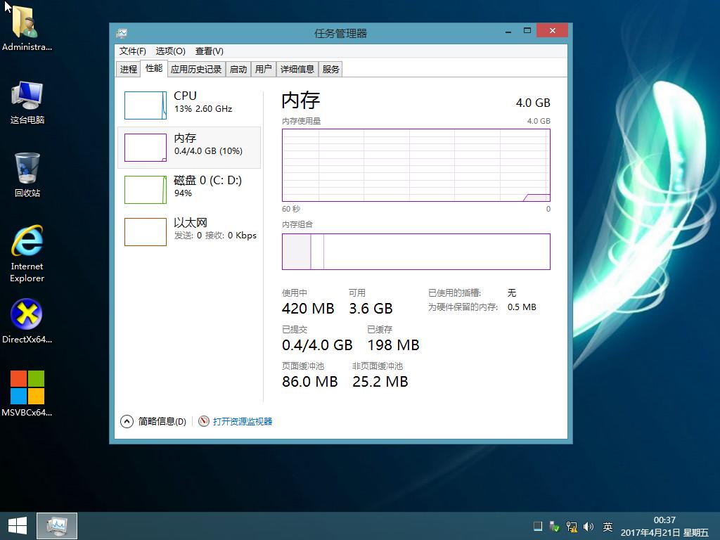 【浅色】最强 Win8.1 Ent Lite 极简版