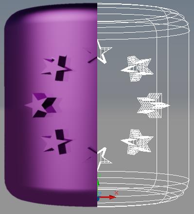 [問題]星星圓形陣列環繞在圓柱有些問題 ZQlmvK