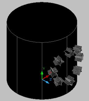 [問題]星星圓形陣列環繞在圓柱有些問題 HyQOZe
