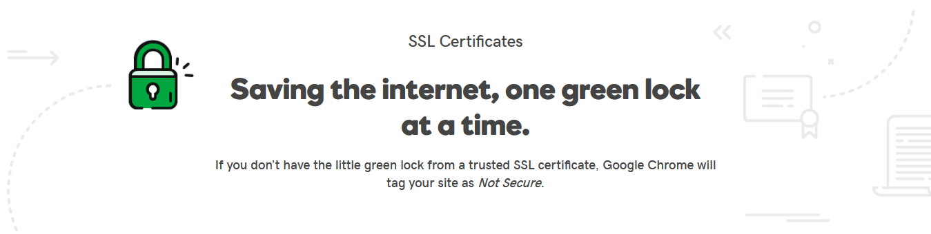 SSL Certificates: If you don't have one, Google Chrome will tag your site as Not Secure.