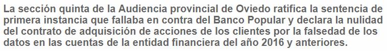 6dr0xB% - Asoman sentencias favorables sobre el caso del Banco Popular