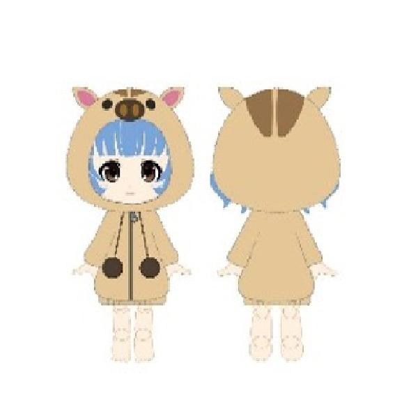 Kotobukiya / Cu-poche / 口袋人 / 專用配件 / 毛絨野豬裝 / 新年Ver.