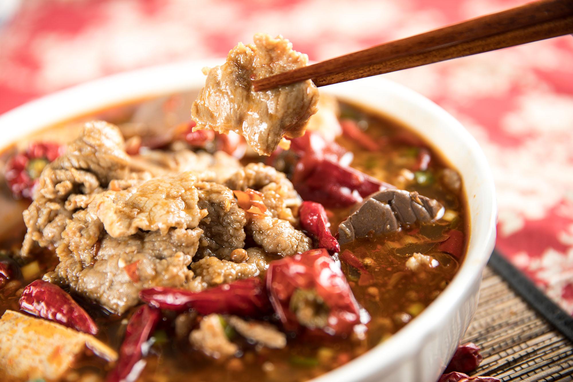 水煮牛肉川菜