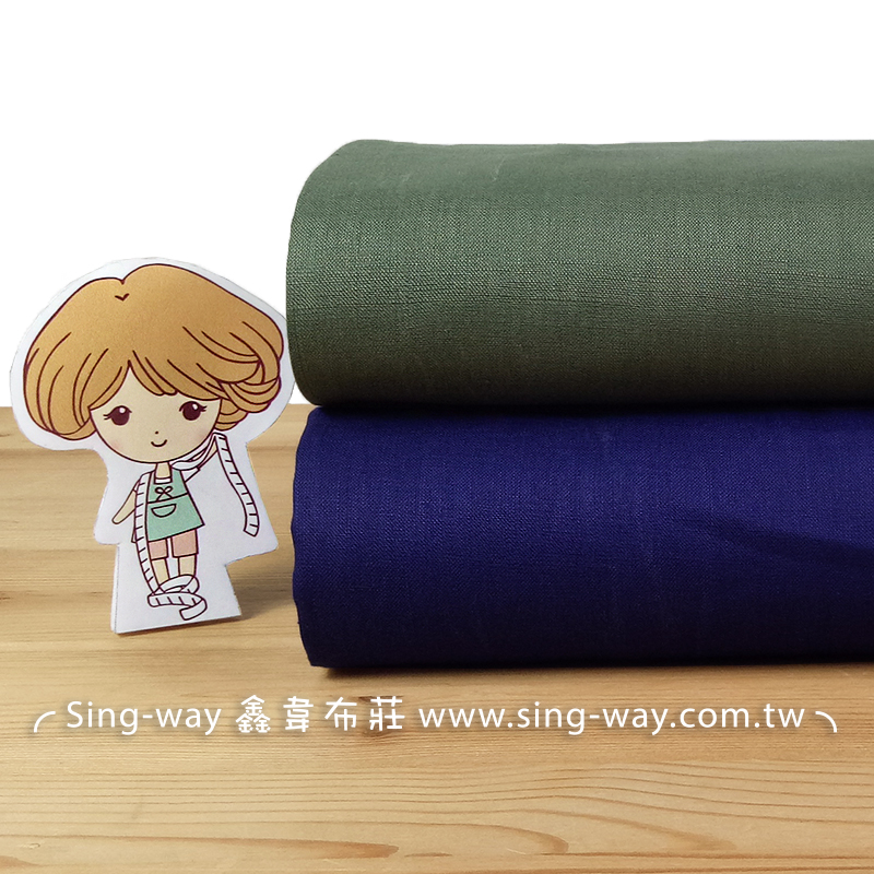 亞麻素面 簡約 無印 輕便舒適 森林系文青 禪風 中國服裝布料 FA1290052 FA1290050