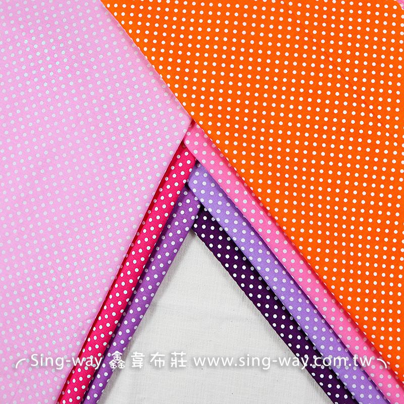 小白點(大特價) 紫紅色 簡約 水玉 圓點 滾邊配布 手工藝DIy拼布布料 CA450782