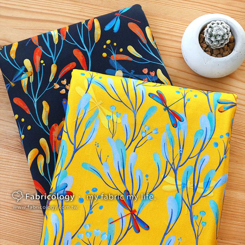布學盒裝印花布(1y)河塘仙子 手工藝DIY布料 SW001903-2