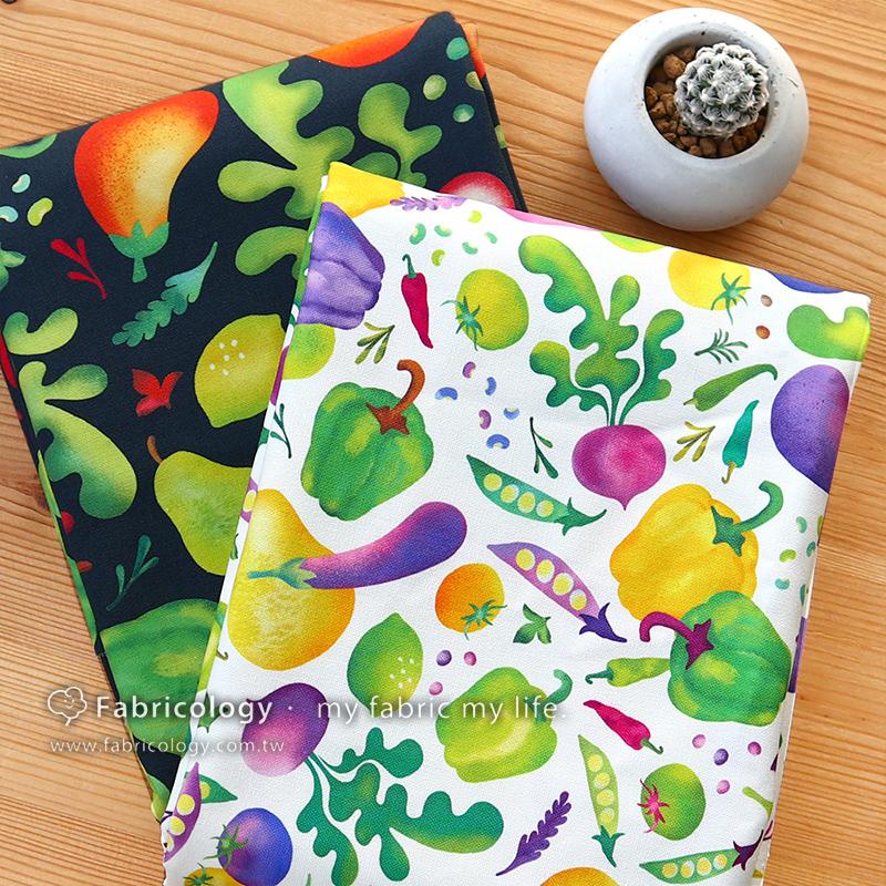 布學盒裝印花布(1y)蔬果女孩 手工藝DIY布料 SW001903-9