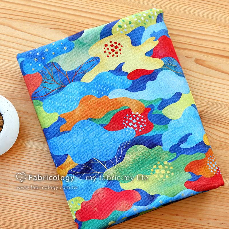 布學盒裝印花布(1y)迷彩花森林 手工藝DIY布料 SW001903-4
