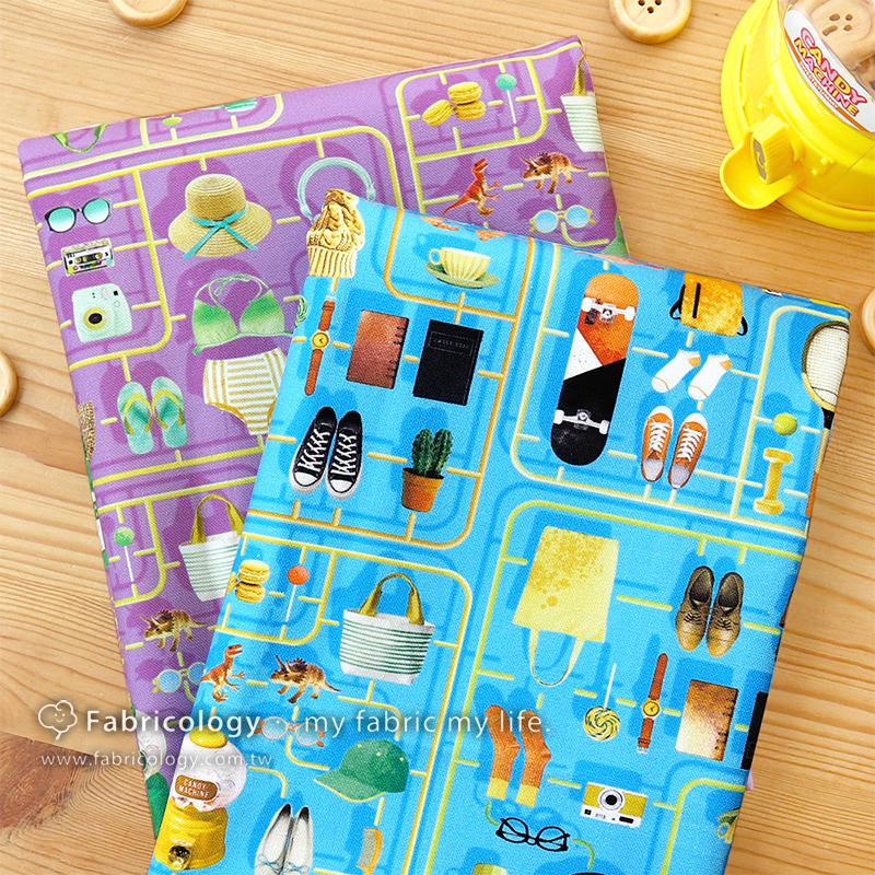 布學盒裝印花布(1y)女孩零組件 手工藝DIY布料 SW001903-1