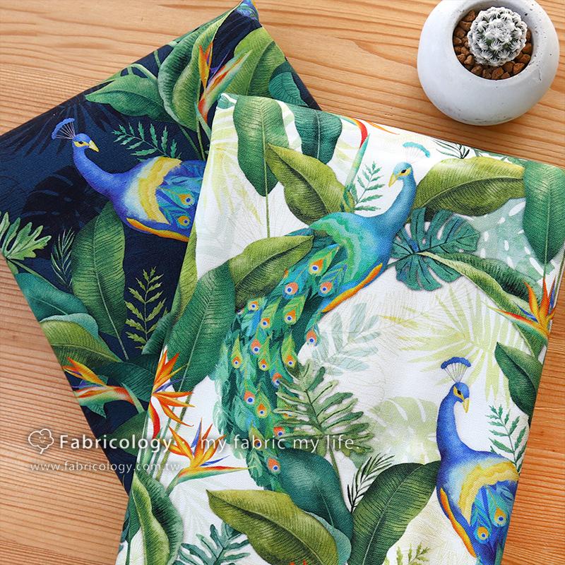 布學盒裝印花布(1y)孔雀 手工藝DIY布料 SW001903-3