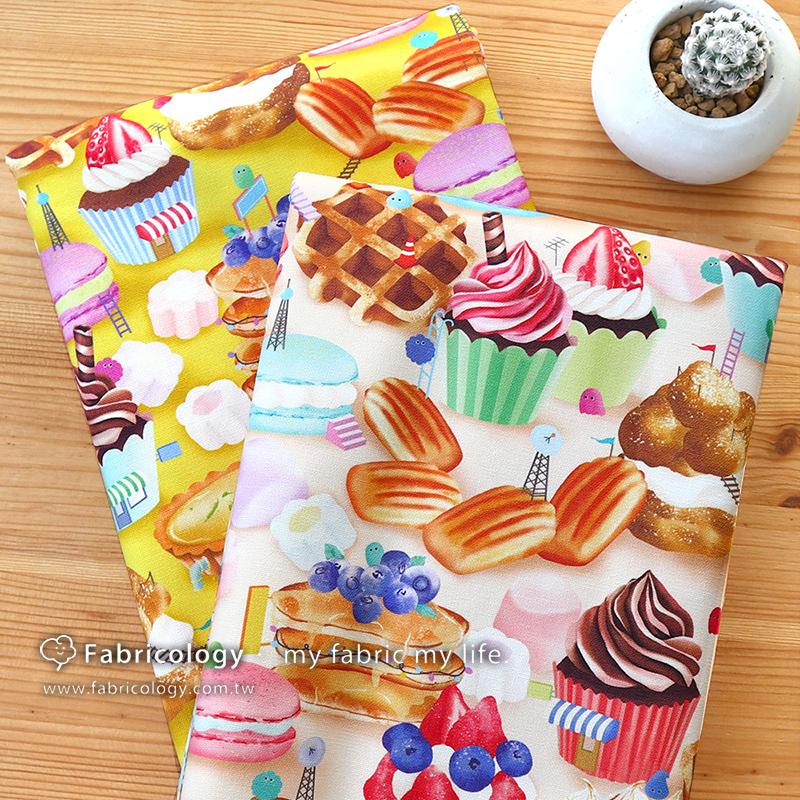 布學盒裝印花布(1y)甜點捉迷藏 手工藝DIY布料 SW001903-6