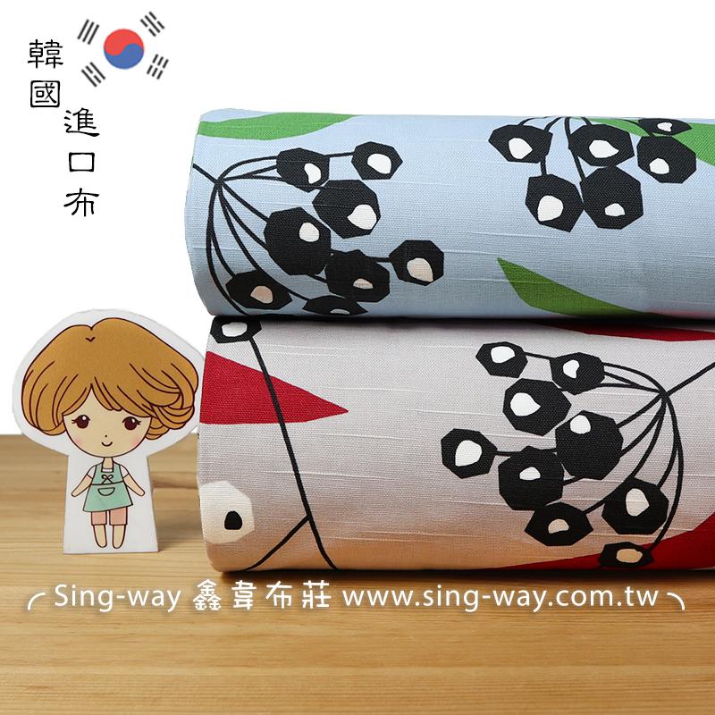 使君子 蒲公英 花園 樹葡萄 韓國進口布 手工藝DIY布料 CA590222