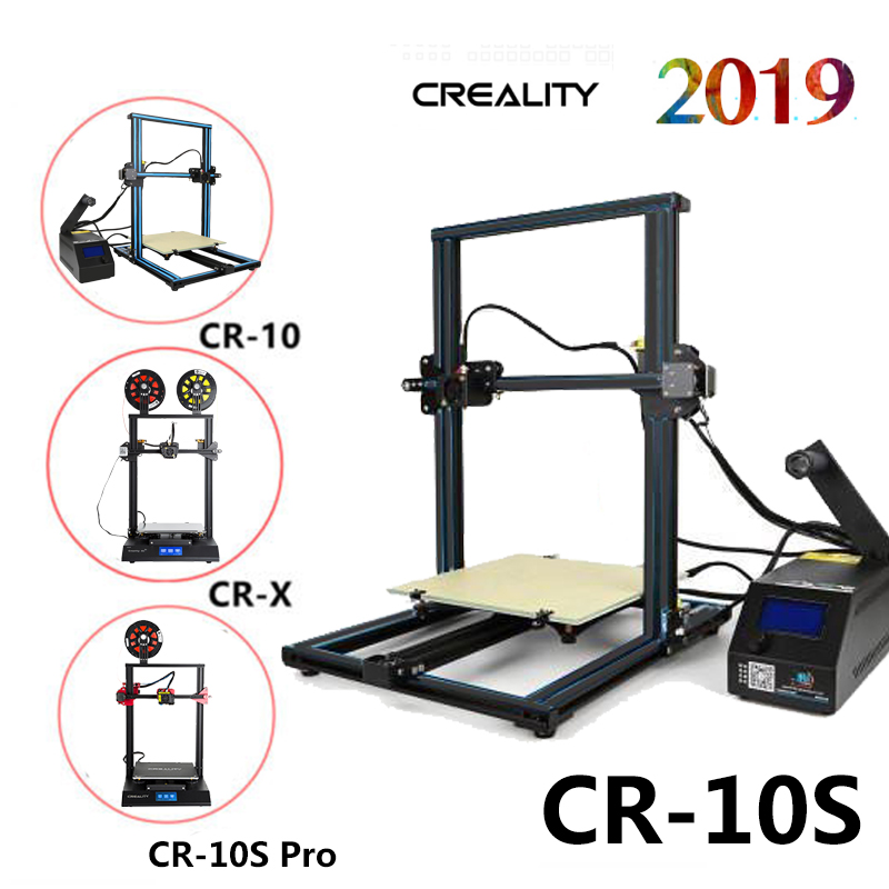 Details about Creality CR-10/CR-X/CR-10S/CR-10S Pro 3D Printer 300X300X400  1 75mm Dual Z axis