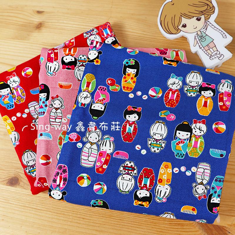 日系和服娃娃(大特價) 浴衣 東京 日本民族服飾 煙花 手工藝DIY布料 CF550759