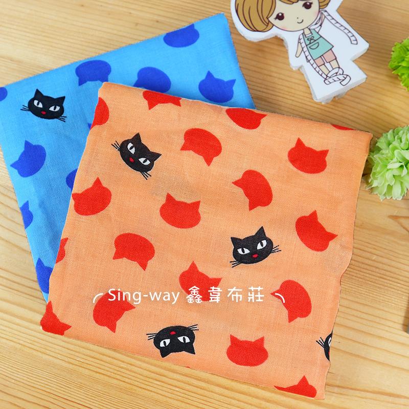 小黑貓 CAT 魔女宅急便 黑貓吉吉 二重紗 雙層紗 嬰兒紗布衣 手帕 口水巾 布料 CA790138