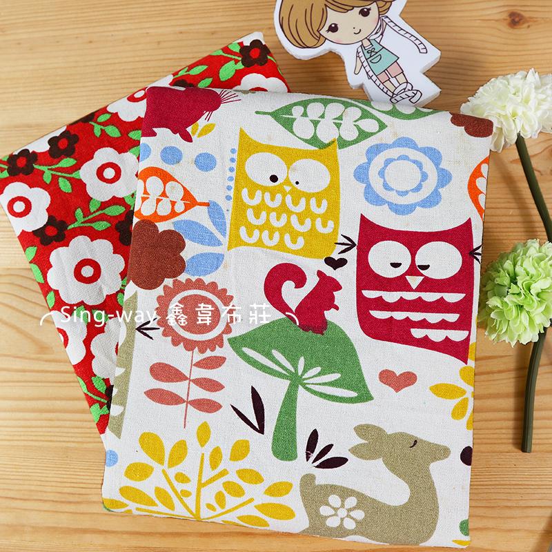 咖白小花花 CA690239 森林動物樂園 CA690240 花園 愛睏貓頭鷹 松鼠 森林 手工藝DIY布料