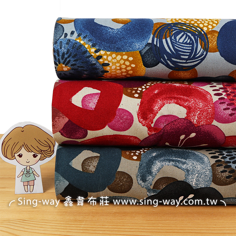 花樣年華(大特價) 玫瑰 櫻花 球花 蓮藕 印象畫 手工藝DIY布料 CF550764