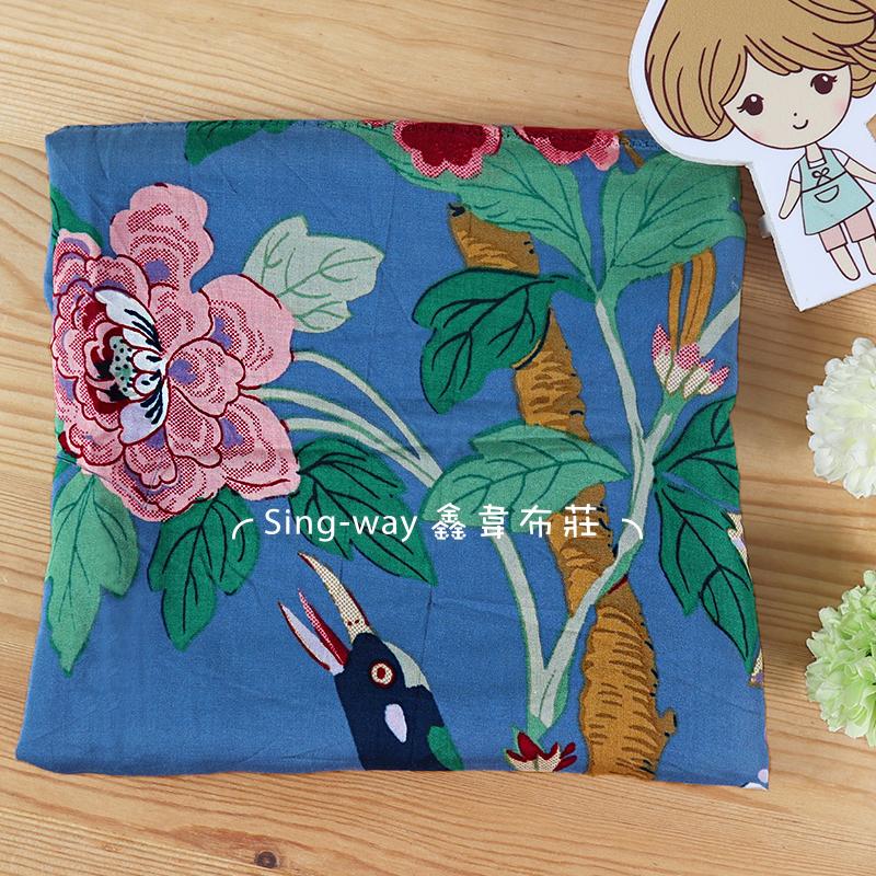 風景畫 櫻花 蝴蝶 牡丹 班鳩 手工藝DIY布料 CH690425