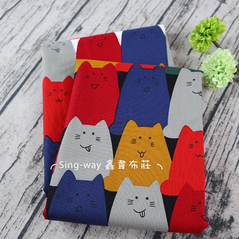 表情貓排排站 貓咪 CAT 表情包 貓星人 手工藝DIY布料 CF550755