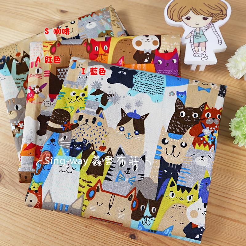 燙銀-領帶貓 貓家族 手繪貓 畫家貓 CAT 手工藝DIY布料 CA450797