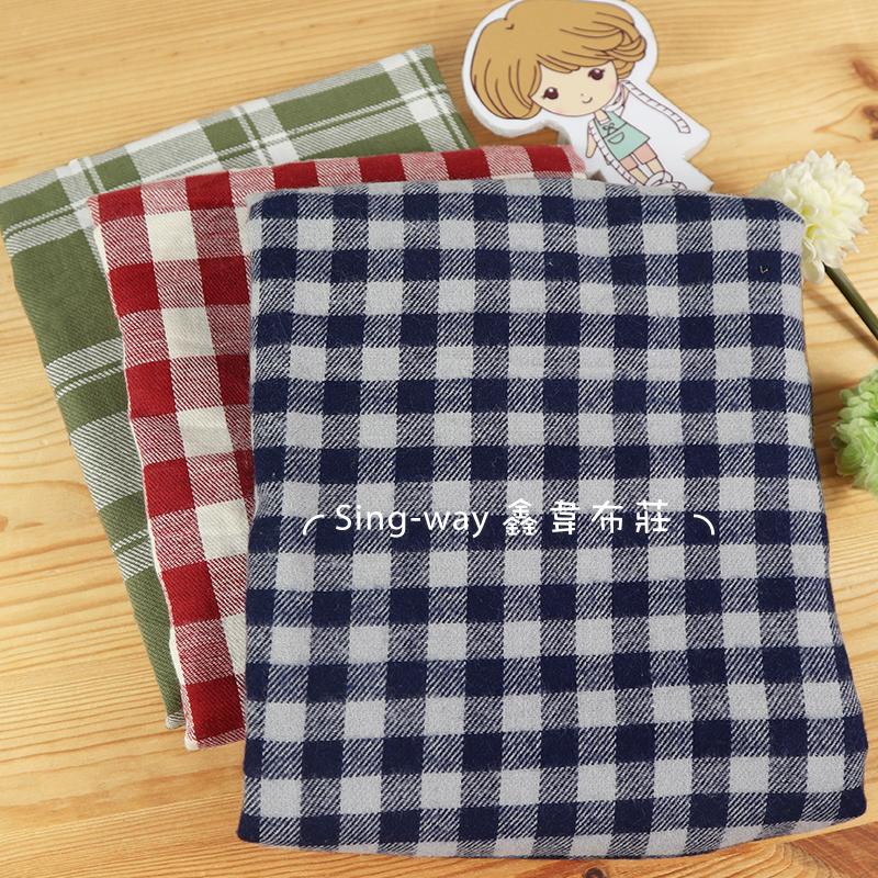 灰藍小格 FC490496 紅白方格 FC490497 橄欖綠大方格 FC490498 格子 襯衫服裝 手工藝DIY布料