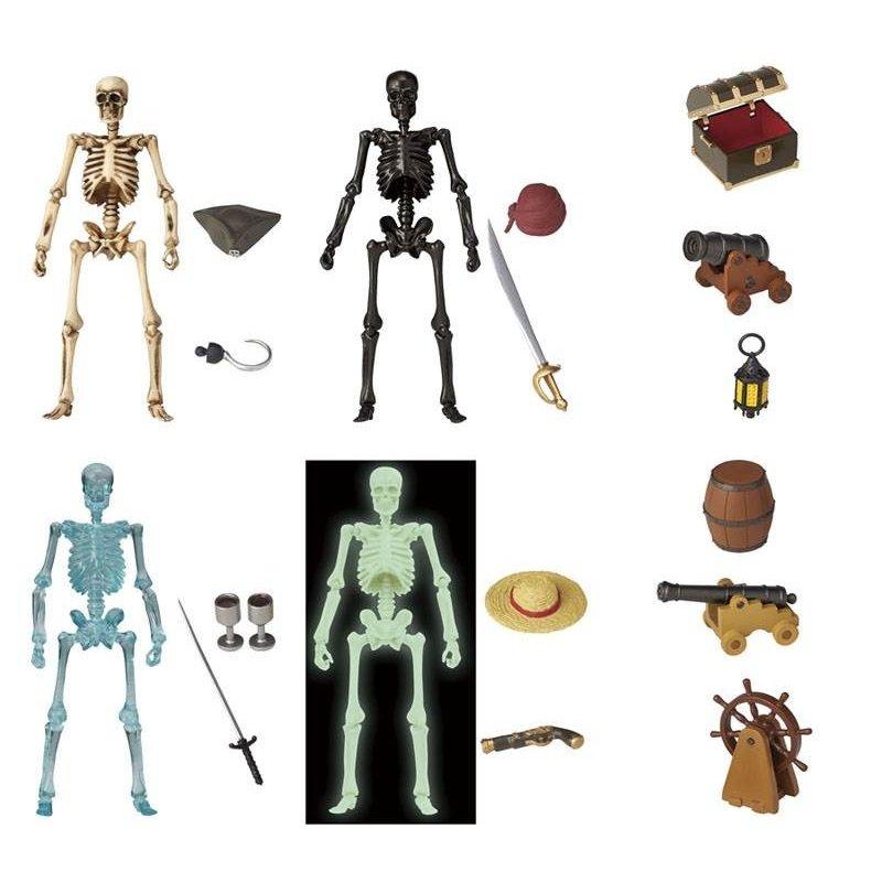 KAIYODO / 海洋堂 / 盒玩 / miniQ / 骷髏人Plus 海盜篇 / 全6種 / 一中盒8入