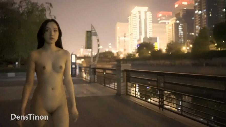 最新流出汤不热红人北京天使DensTinon极限露出挑战全裸夜行公园直播回放漂亮妹子玩的就是心跳1080P原版 17:27