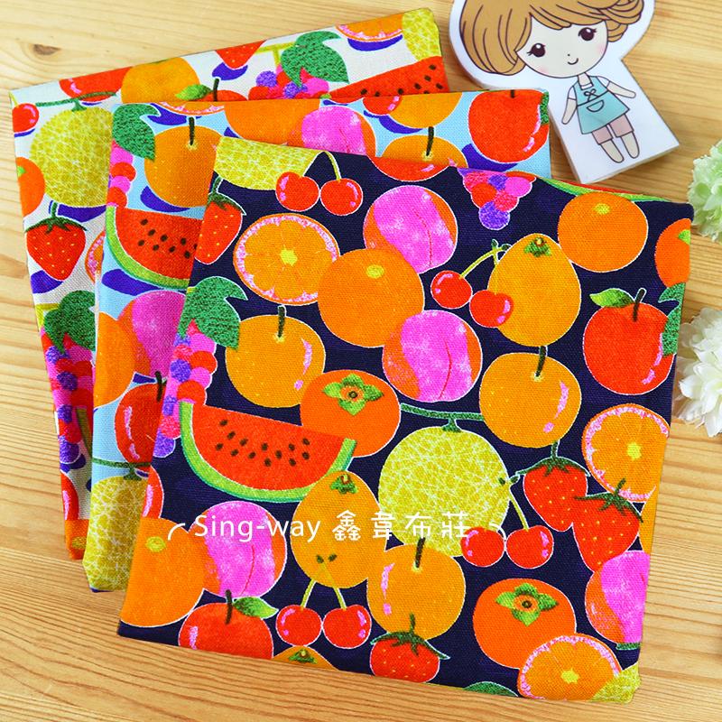 熱帶水果 拼盤 水果王國 葡萄 西瓜 草莓 哈密瓜 水蜜桃 櫻桃 手工藝DIY布料 CF550782