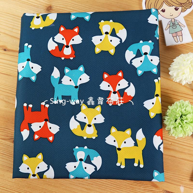 小狐狸 防潑水 可愛動物 FOX 狡猾 手工藝DIY布料 ED590046