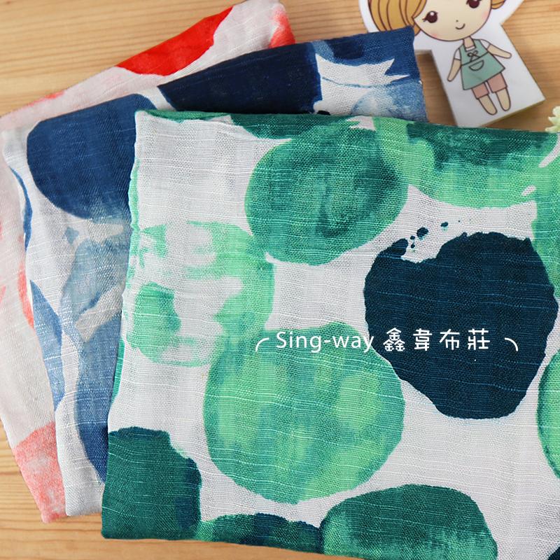 大圓點色彩 泡沫 噴墨 水墨畫 手工藝DIY布料 1290208