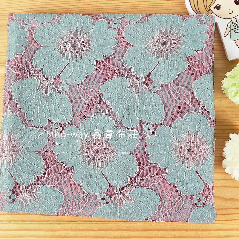 網藍大花 薔薇 花朵 手工藝DIY布料 LE1490065