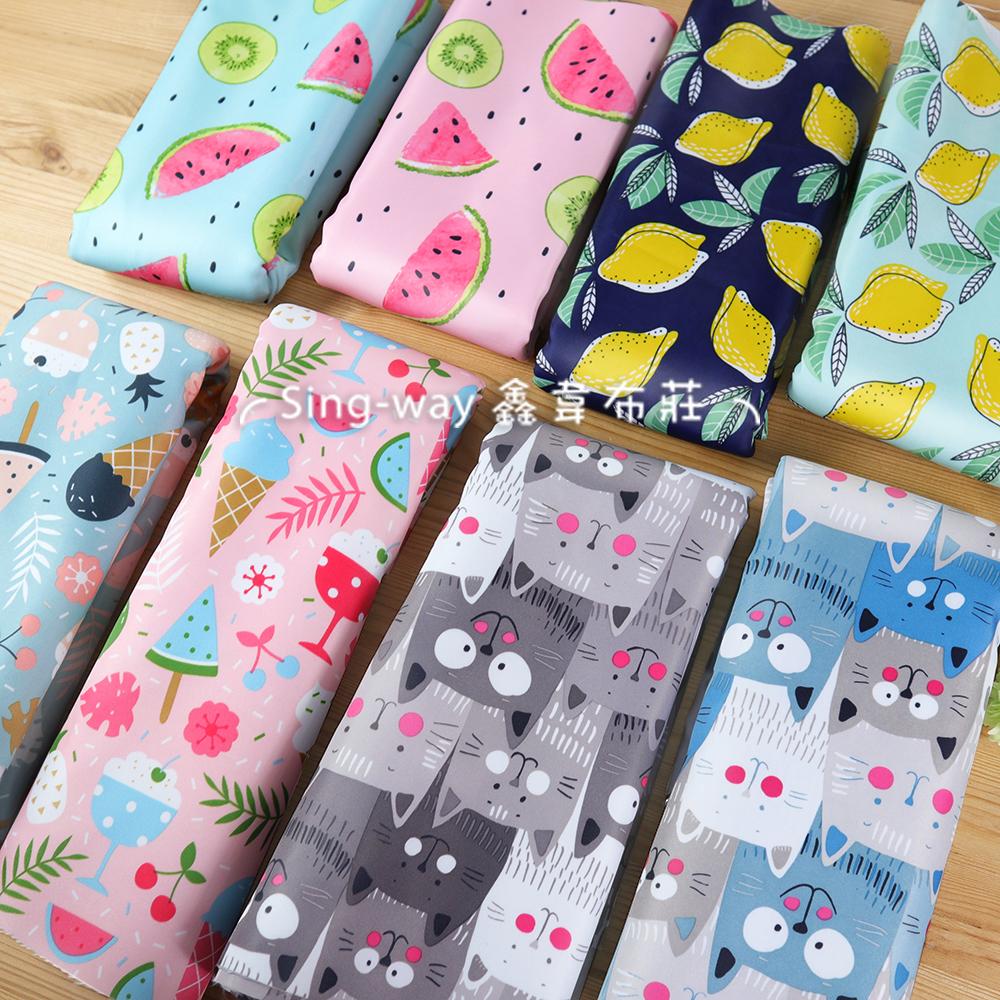 檸檬 ED1190001 西瓜 ED1190002 萌貓 ED1190003 甜點 ED1190004 貼合布 防潑水 布貼模