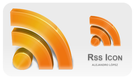 RSS by ~BlueMalboro 立体RSS 256px PNG 适用于win mac系统 可选
