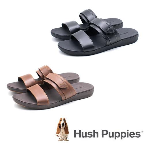 Hush Puppies ZERO G  男輕量涼拖鞋 咖/黑
