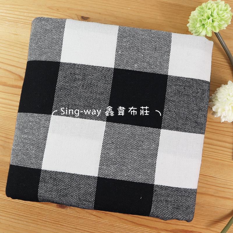 黑白方格子 方格紋 正方形 大方格 手工藝DIY布料FC590335