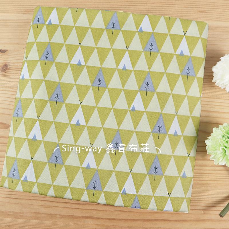 三角北歐樹 三角形 樹木 滿版圖案 帳篷 針葉林 簡約風 手工藝DIY布料 CA590255