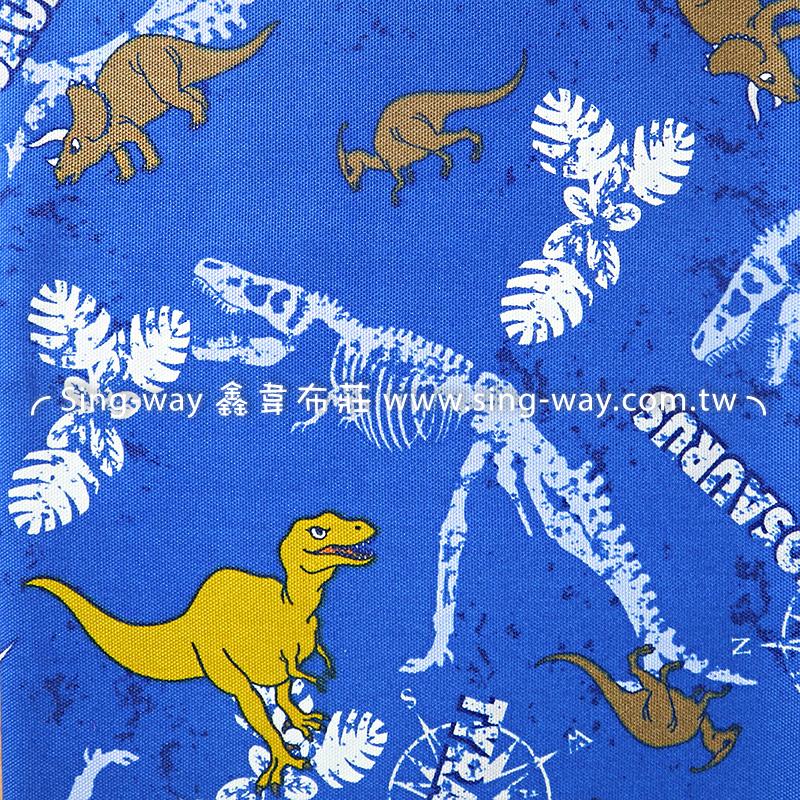 (可加購)(1碼布) 侏儸紀公園 三麗鷗 恐龍 手工藝DIY布料 ZC10809-B