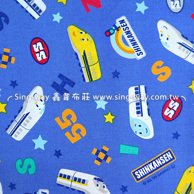 (可加購)(1碼布)卡通特快車 三麗鷗 車車 手工藝DIY布料 ZC10809-A