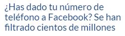 Y facebook la volvió a liar de nuevo …