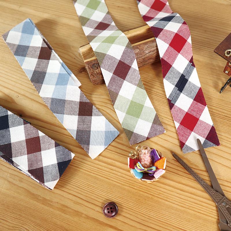 方格滾邊條 包邊條 手工藝DIY布料 SW070-12