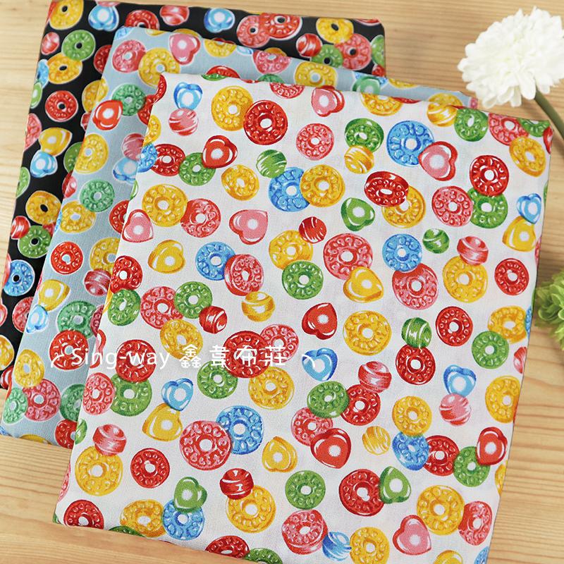 彩色甜甜圈(大特價) 水果糖 糖果 candy 童玩 手工藝DIY布料 CA450822