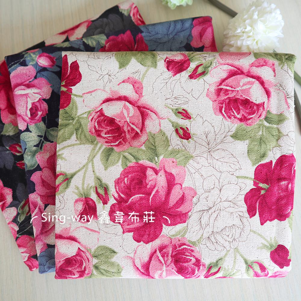 插畫風玫瑰花(大特價) rose 花朵 影子 花園 含苞待放 手工藝DIY布料 CF550799