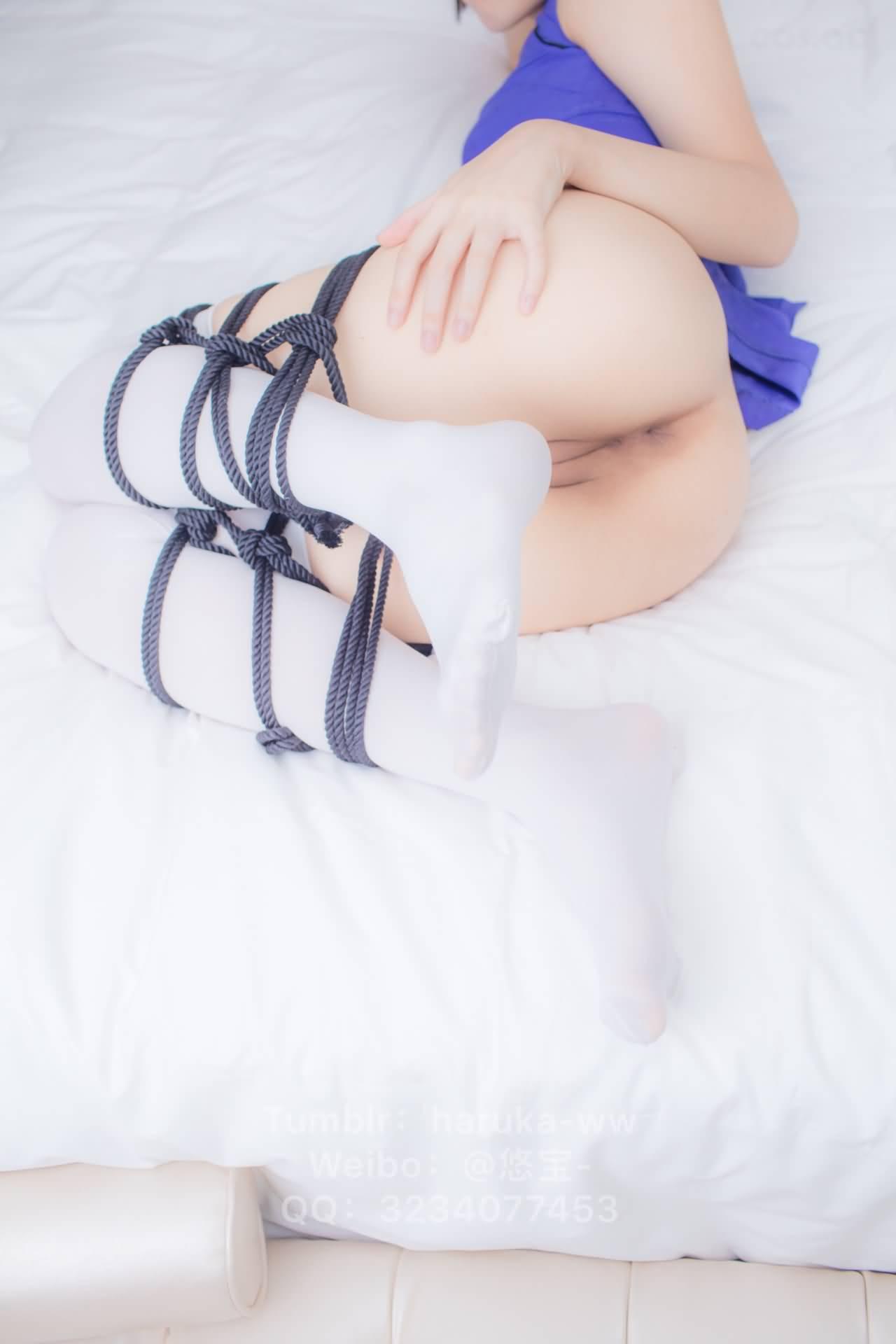 50CrNR - Young japanese school girl white stockings cheongsam 悠宝三岁 白丝旗袍