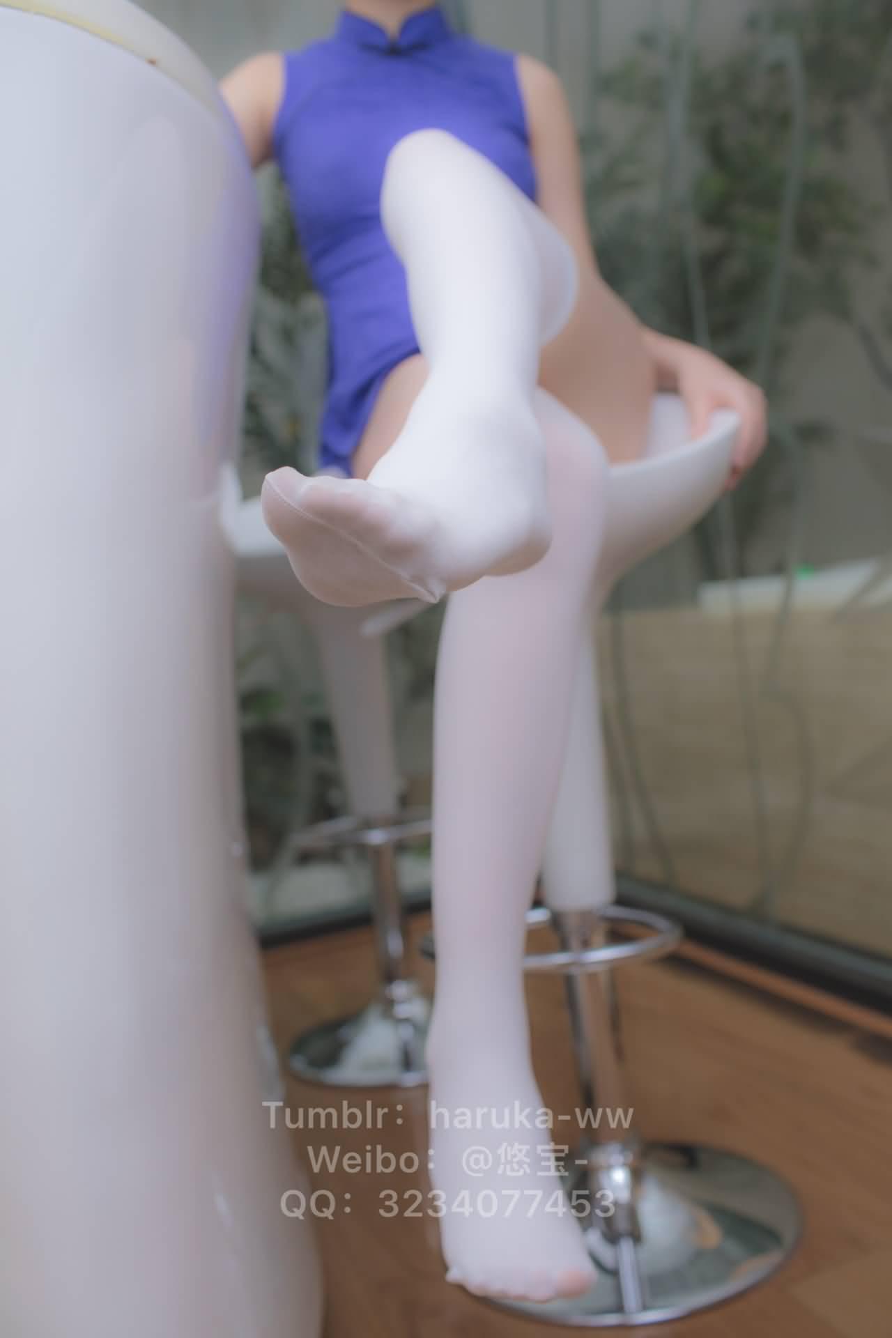 sQh7K6 - Young japanese school girl white stockings cheongsam 悠宝三岁 白丝旗袍