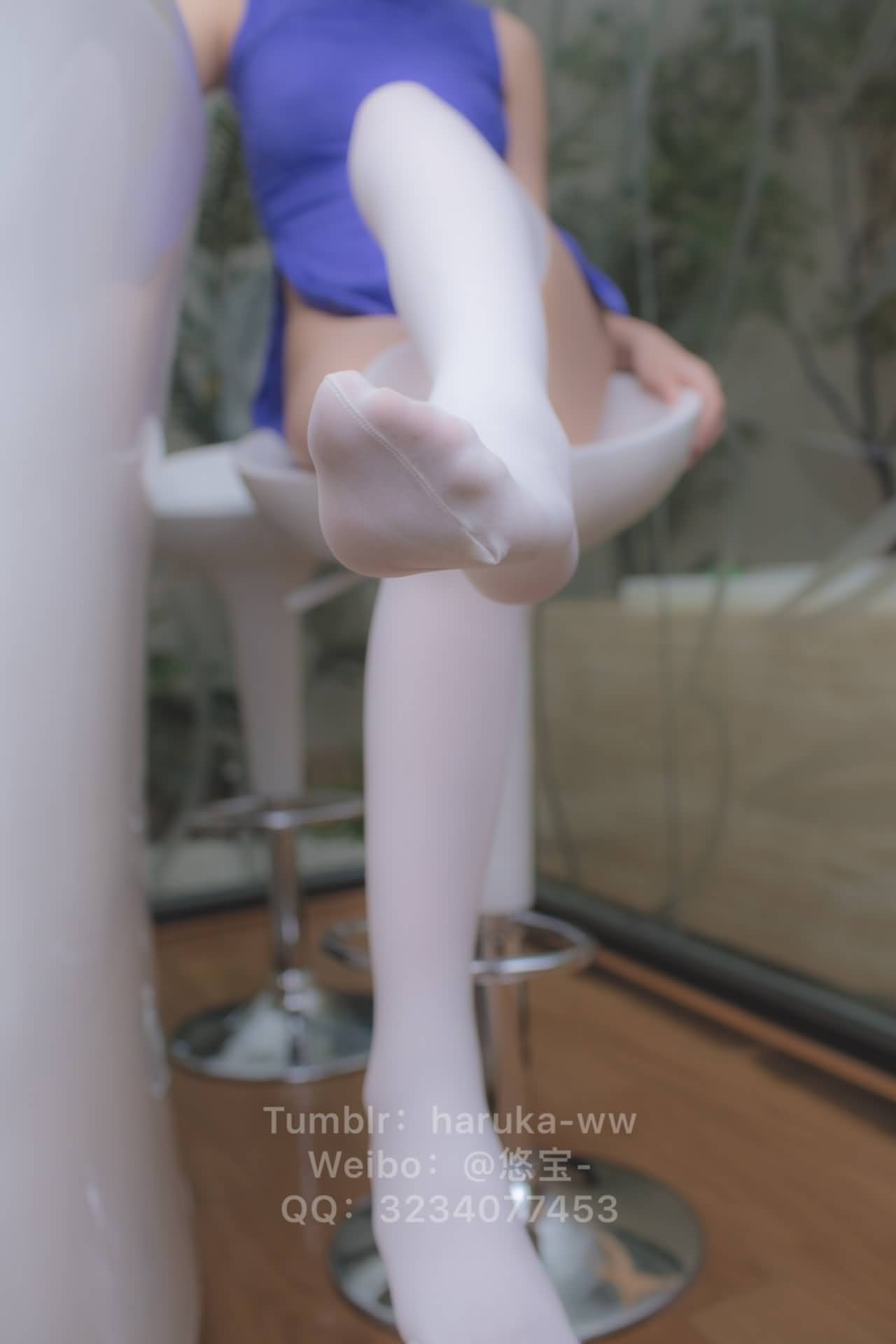 sWuTi7 - Young japanese school girl white stockings cheongsam 悠宝三岁 白丝旗袍