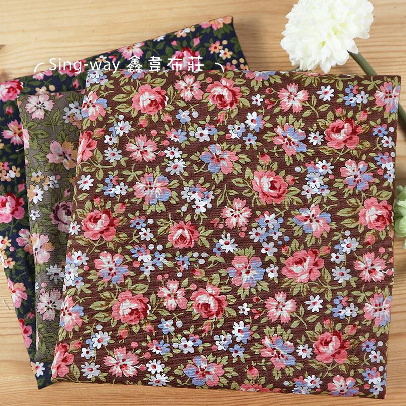 小玫瑰 滿版圖案 花園 雛菊 花草 手工藝DIY布料 CA450818