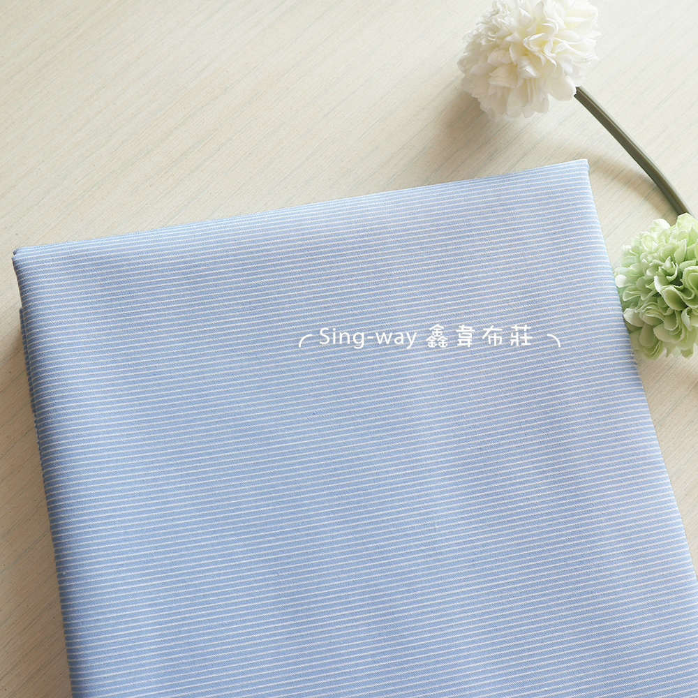 細條子 條紋 格紋 簡約條紋 襯衫洋裝服裝布料 FC490501