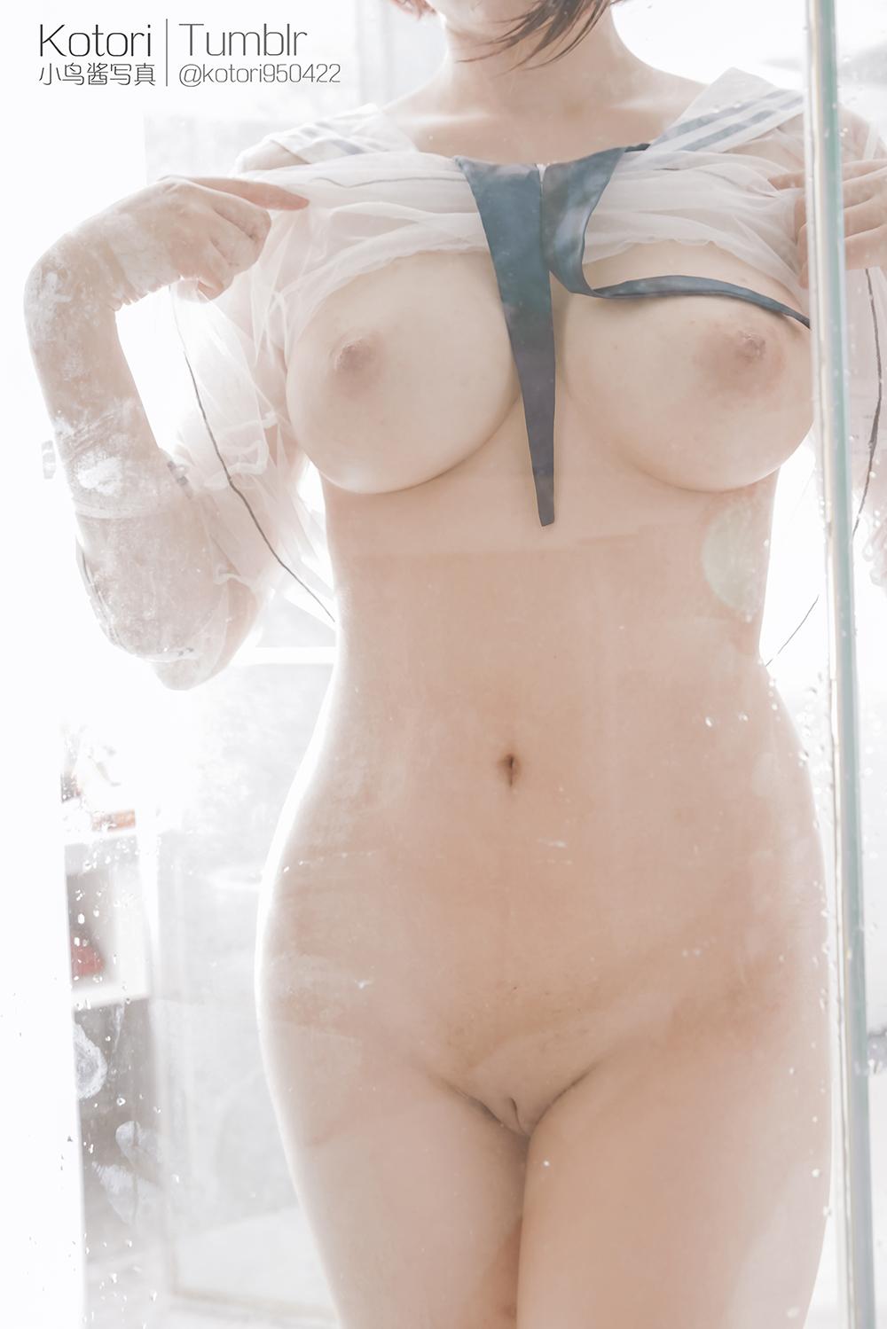 3qdQ6G - Cosplay girl Tumblr PR社 福利姬 小鸟酱 透明薄纱装