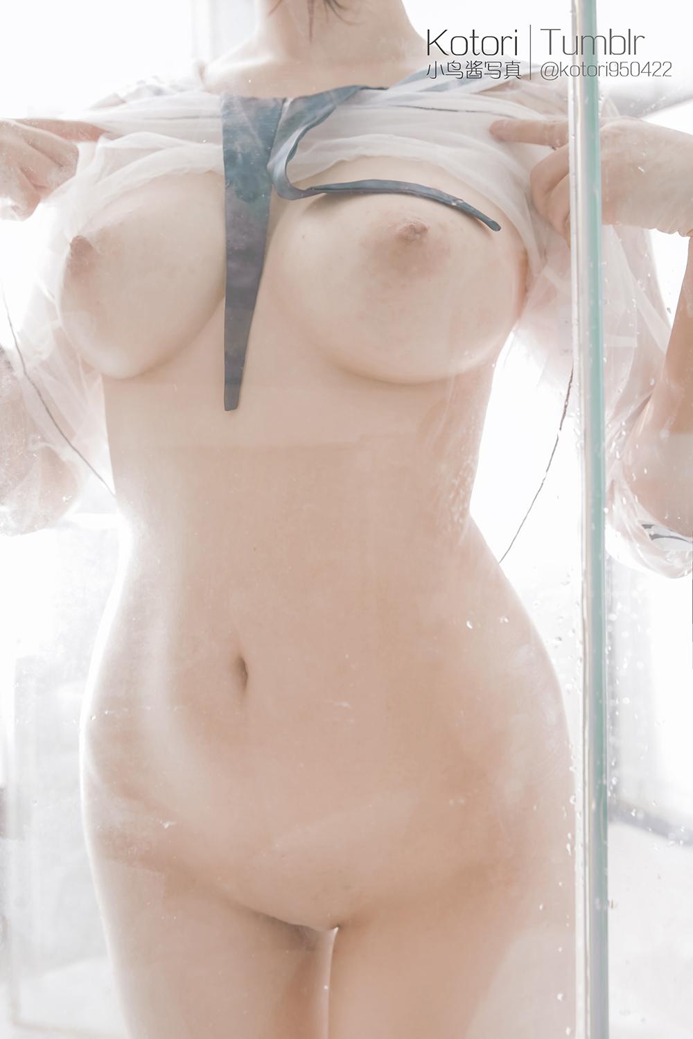 D9H1RI - Cosplay girl Tumblr PR社 福利姬 小鸟酱 透明薄纱装