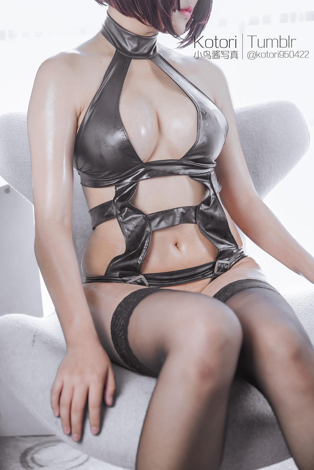 JACLUc - Cosplay girl PR社 福利姬 小鸟酱系列–黑色束缚衣